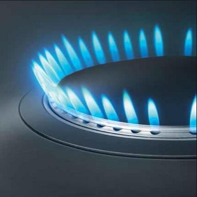 ส่วนหัวเตาแบบเวอร์ทิคอล เฟลม(Vertical Flame)หรือหัวเตาความร้อนสูงที่ให้เปลวไฟแบบแนวตั้งนั้นใช้กันมากในเตาแก๊สรุ่นใหม่ๆในปัจจุบัน เพราะมีความสวยงามทนทานและยังให้เปลวไฟแนวตั้งที่ความร้อนสูง เหมาะกับการทำอาหารทุกประเภท ส่วนมากพบเห็นหัวเตาแบบนี้ได้ในเตาแก๊สประเภทเตาฝัง ซึ่งมีข้อดีคือให้ความร้อนสูง ประหยัดแก๊ส แต่ก็มีข้อเสียคือมักมีราคาที่สูงกว่าหัวเตาชนิดอื่นๆ