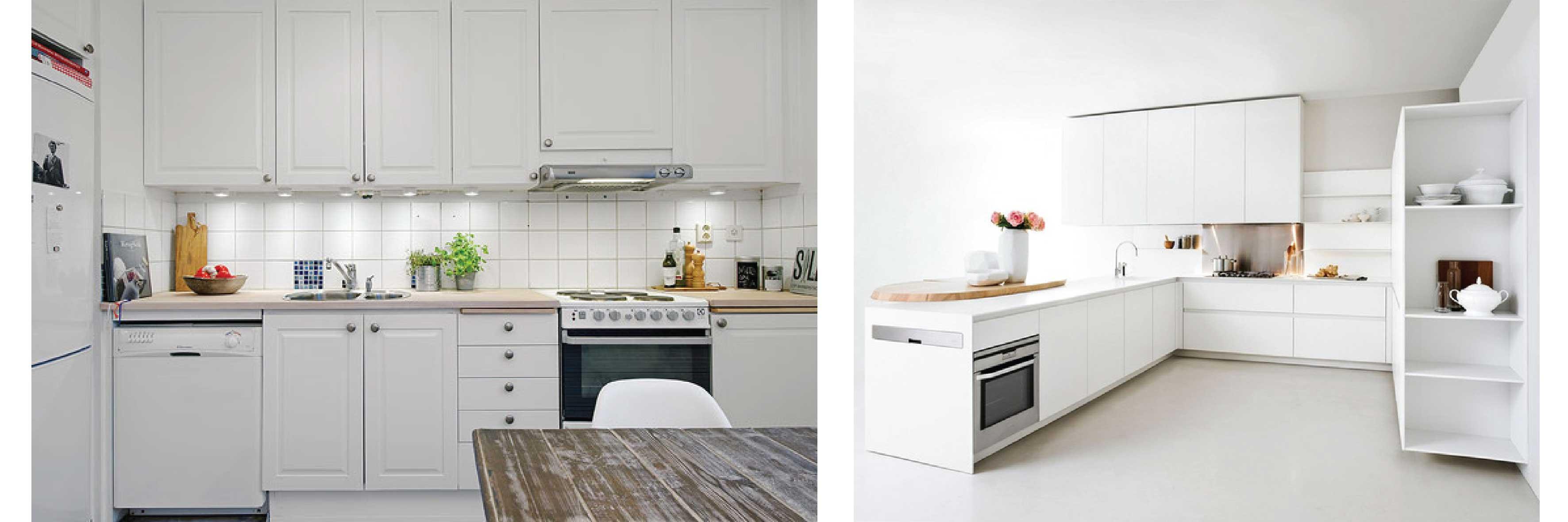 ตู้ครอบเตาอบควรมีสีโทนเดียวกับห้องครัวและเฟอร์นิเจอร์ในห้องครัว เพื่อให้เกิดความสวยงามและโทนสีไม่ตัดกันเกินไปมากนัก