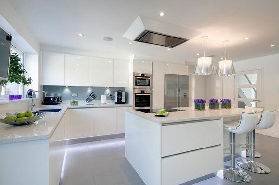ห้องครัวสีขาวนวลสไตล์ Modern